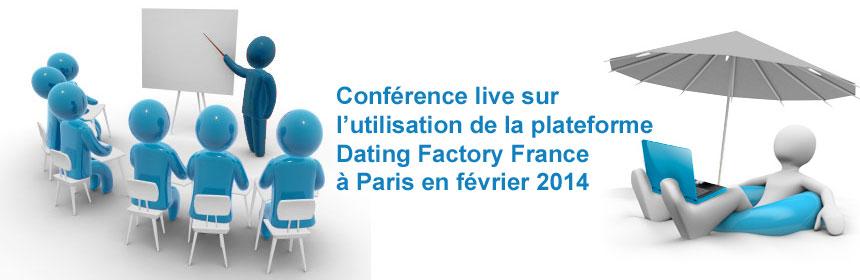 conférence live sur l'utilisation de la plateforme de rencontre