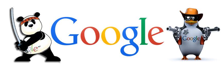 Google panda et Gogole pingouin