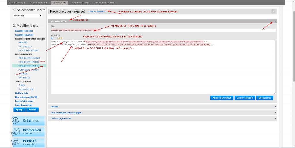 Les meta tag pour votre site de rencontre